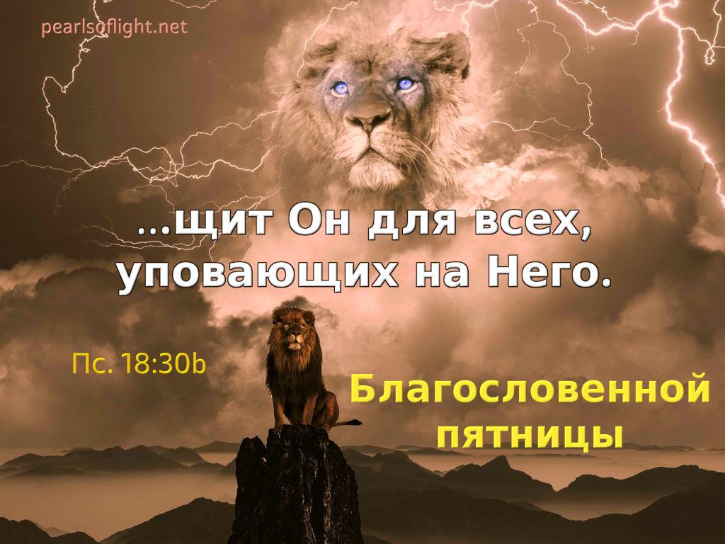 …щит Он для всех, уповающих на Него.