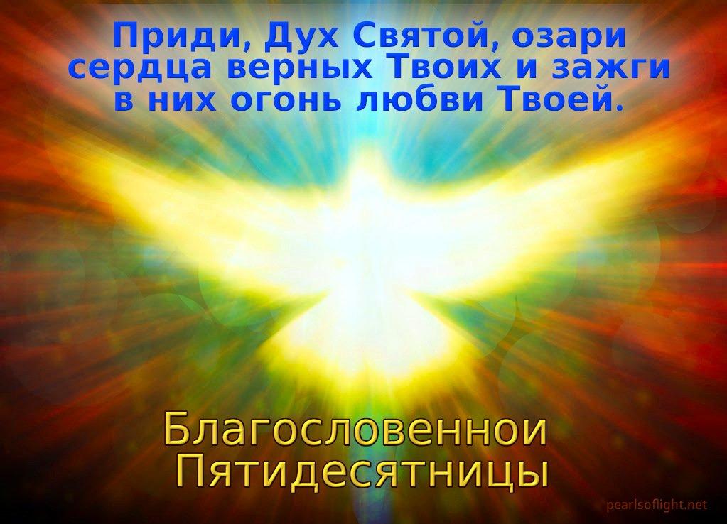 Приди, Дух Святой, озари сердца верных Твоих и зажги в них огонь любви Твоей.