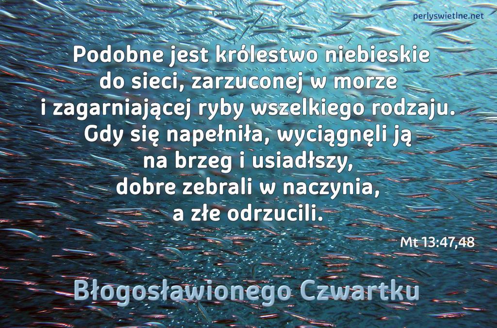 Podobne jest królestwo niebieskie do sieci, zarzuconej w morze…