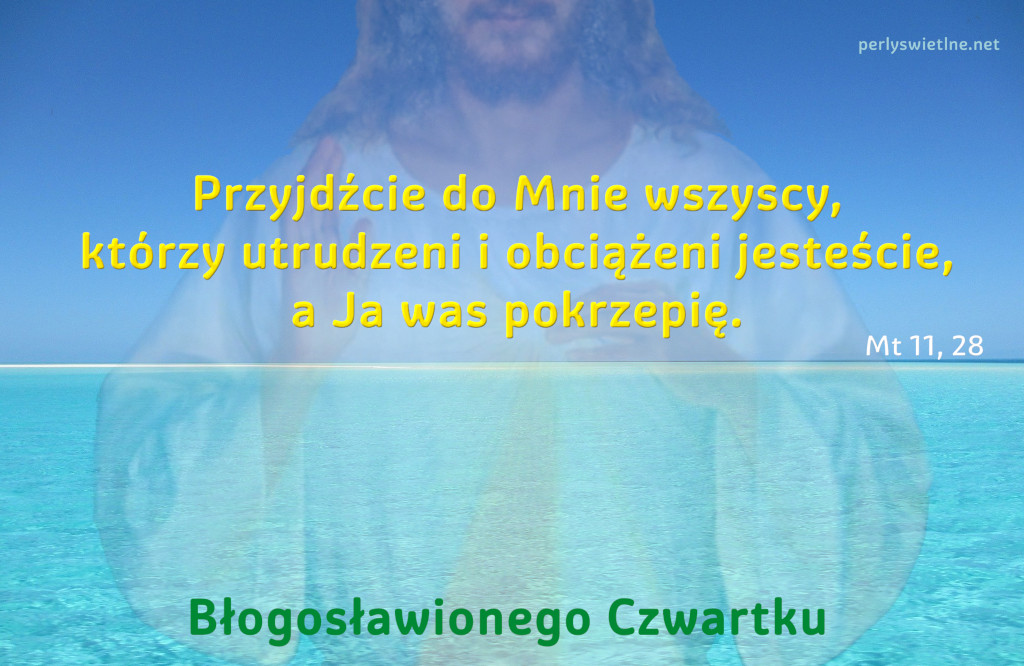 Przyjdźcie do Mnie wszyscy, którzy utrudzeni i obciążeni jesteście,a Ja was pokrzepię.