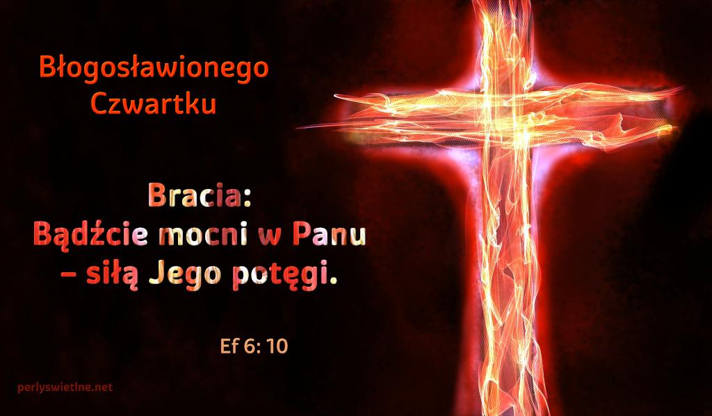 Bracia: Bądźcie mocni w Panu– siłą Jego potęgi.